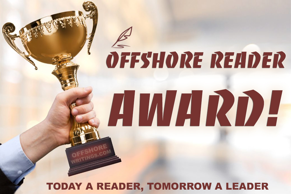 Offshore Reader Award from Offshorewritings.com